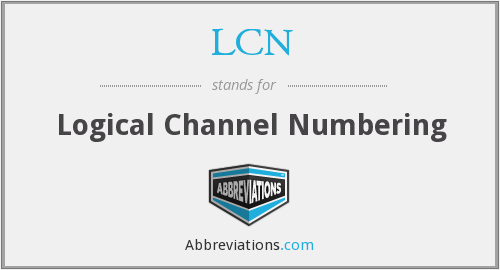 LCN - Logical Channel Numbering