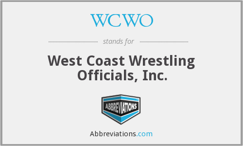 WCWO - West Coast Wrestling Officials, Inc.