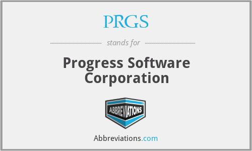 PRGS - Progress Software Corporation