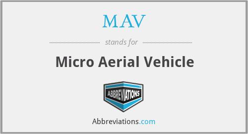 MAV - Micro Aerial Vehicle