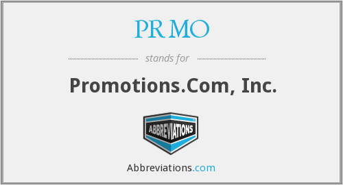 What does PRMO stand for?