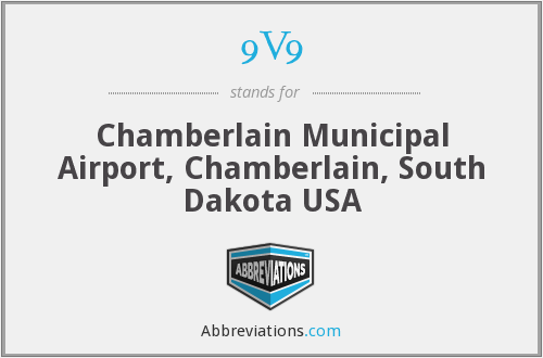 9V9 - Chamberlain Municipal Airport, Chamberlain, South Dakota USA
