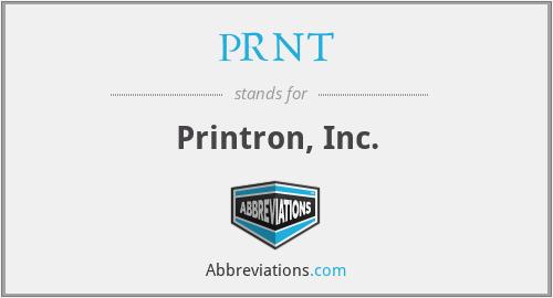 PRNT - Printron, Inc.