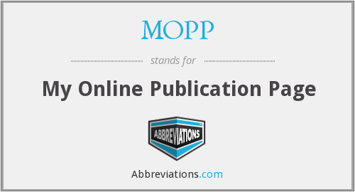 MOPP - My Online Publication Page