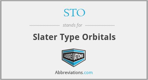 STO - Slater Type Orbitals