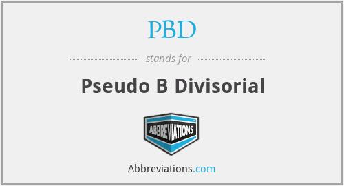 PBD - Pseudo B Divisorial