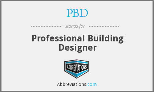 PBD - Professional Building Designer