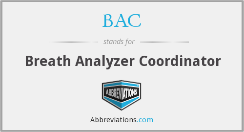 BAC - Breath Analyzer Coordinator
