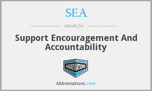 SEA - Support Encouragement And Accountability