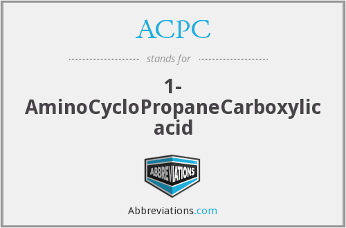 ACPC - 1- AminoCycloPropaneCarboxylic acid