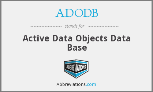 What does ADODB stand for?
