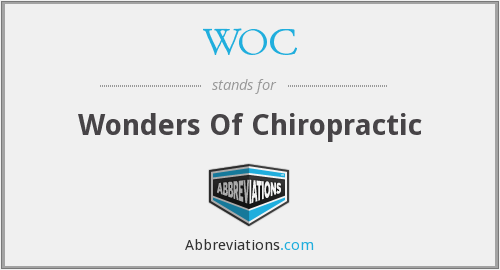WOC - Wonders Of Chiropractic