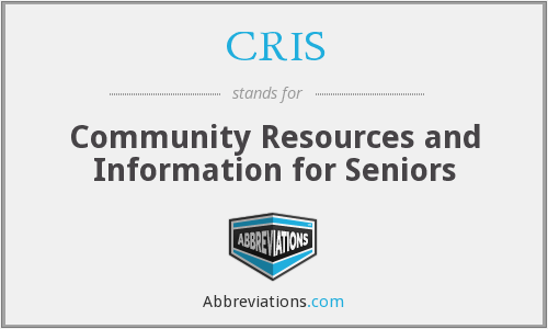 CRIS - Community Resources and Information for Seniors