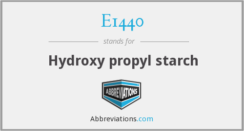 E1440 - Hydroxy propyl starch
