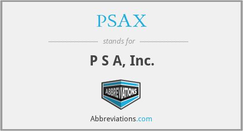 PSAX - P S A, Inc.