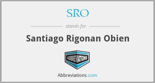 SRO - Santiago Rigonan Obien
