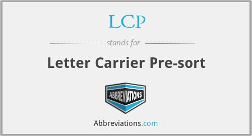 LCP - Letter Carrier Pre-sort