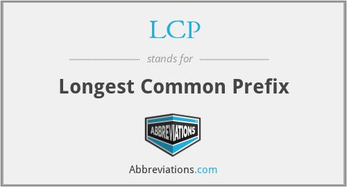 LCP - Longest Common Prefix