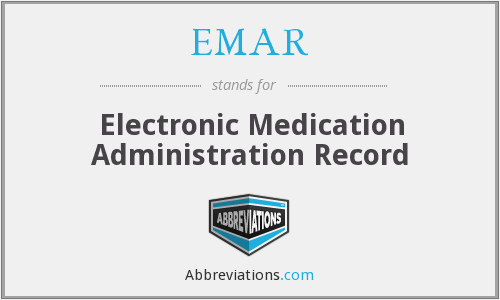 What does EMAR stand for?