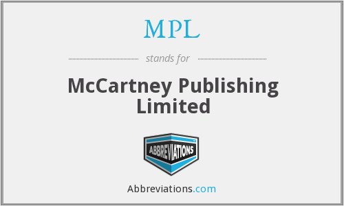 MPL - McCartney Publishing Limited