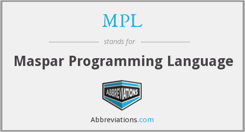 MPL - Maspar Programming Language
