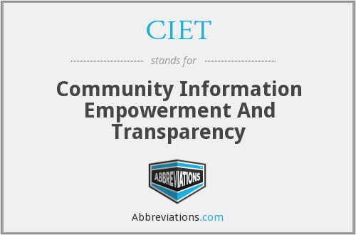 What does CIET stand for?
