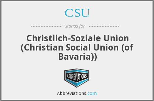 CSU - Christlich-Soziale Union (Christian Social Union (of Bavaria))