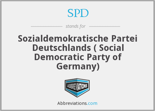 SPD - Sozialdemokratische Partei Deutschlands ( Social Democratic Party of Germany)