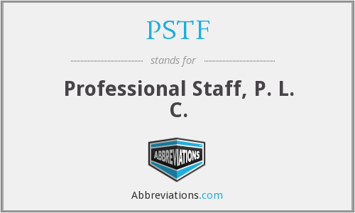 What does PSTF stand for?