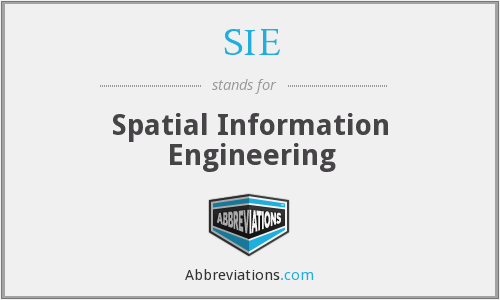 SIE - Spatial Information Engineering
