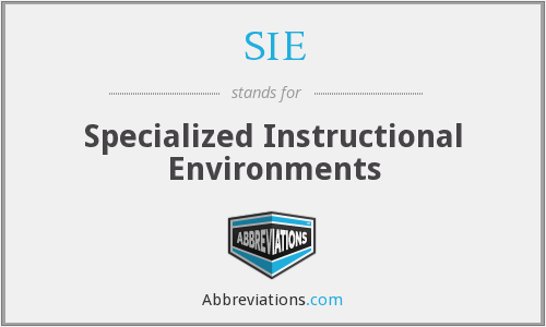SIE - Specialized Instructional Environments