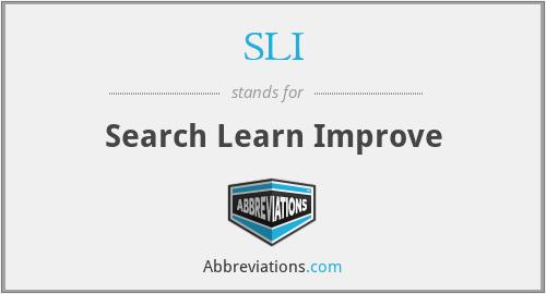 SLI - Search Learn Improve