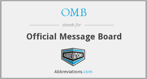 OMB - Official Message Board