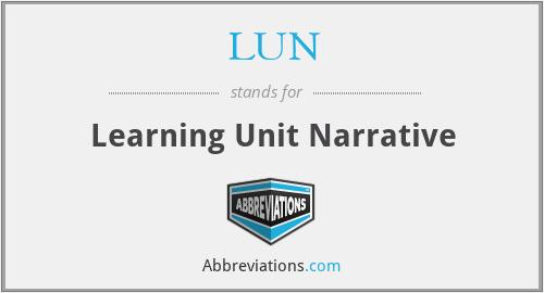 LUN - Learning Unit Narrative