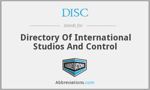 DISC - Directory Of International Studios And Control