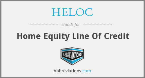 What does HELOC stand for?