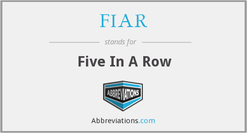 FIAR - Five In A Row