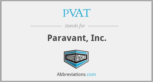 PVAT - Paravant, Inc.