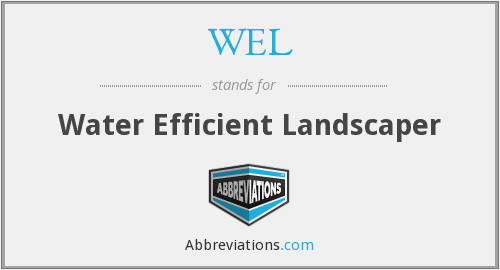WEL - Water Efficient Landscaper