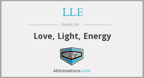 LLE - Love, Light, Energy