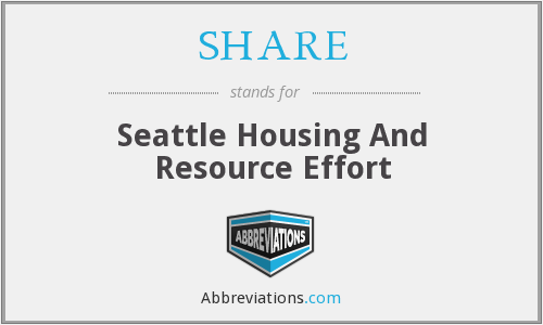 SHARE - Seattle Housing And Resource Effort