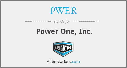 PWER - Power One, Inc.
