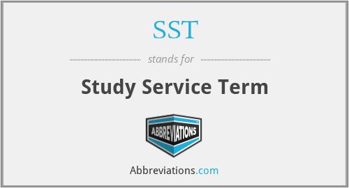 SST - Study Service Term