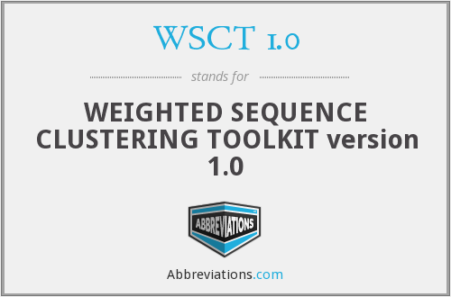 What does WSCT 1.0 stand for?