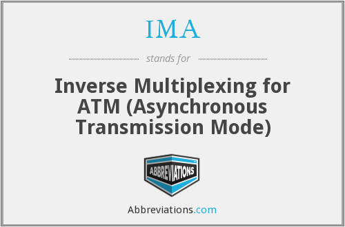 IMA - Inverse Multiplexing for ATM (Asynchronous Transmission Mode)