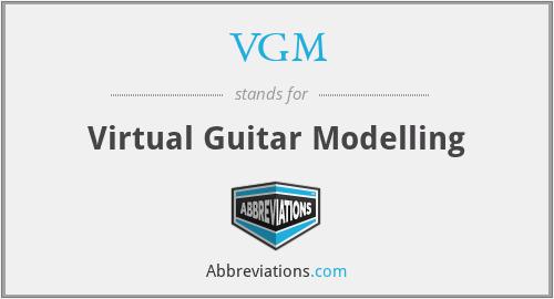 VGM - Virtual Guitar Modelling