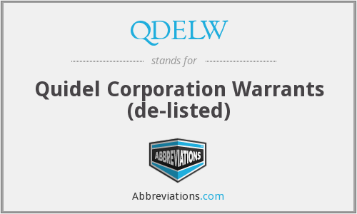 What does QDELW stand for?
