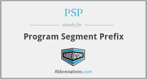 PSP - Program Segment Prefix