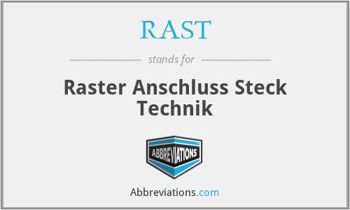 RAST - Raster Anschluss Steck Technik