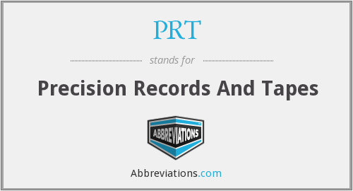 PRT - Precision Records And Tapes